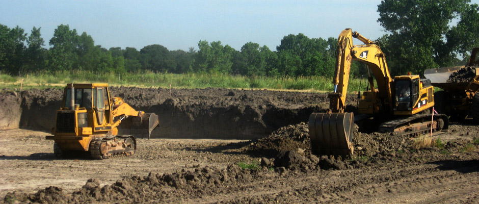 Site Preparation for Texas Machine Warehouse