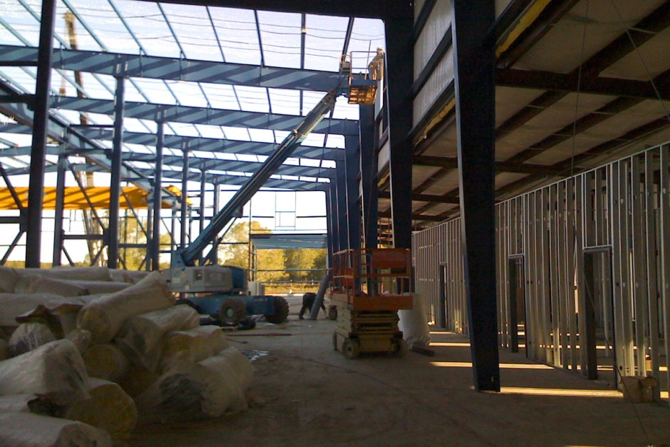 Texas Warehouse and Office Framing