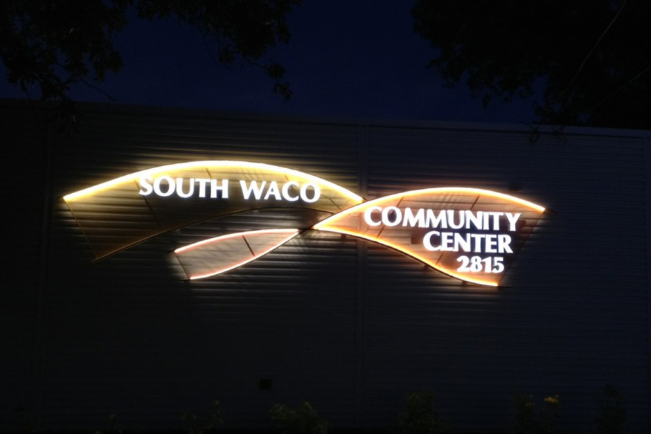 Community Center Sign